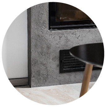 Microbond on fireplace