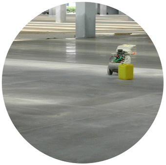 Pavishield used to protect an indoor industrial concrete floor